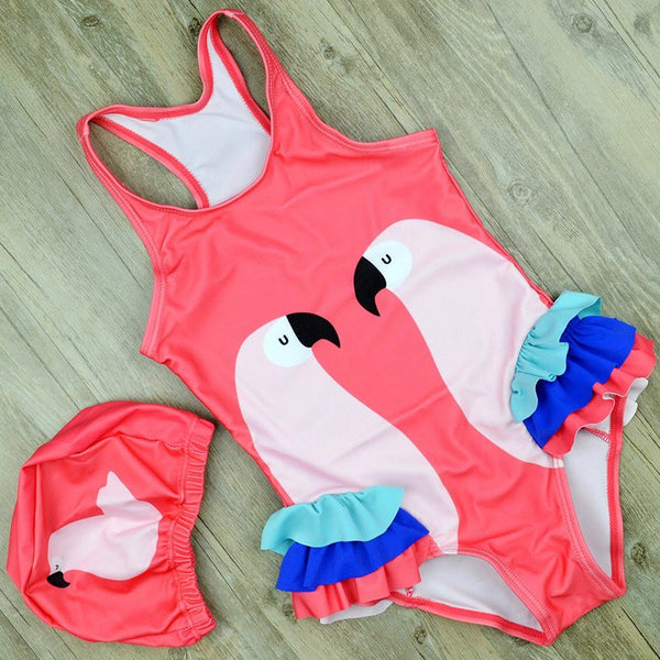 Bird ruffle swimsuit sets