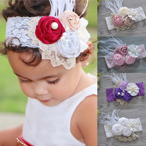 Shabby lace and roses headbands