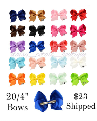 "Set of 20/4"" bows"