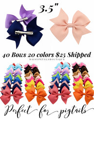 Set of 40/20 bows 3.5""