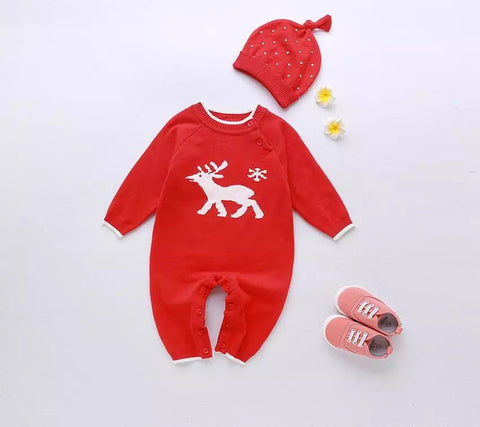 Crochet Raindeer romper set