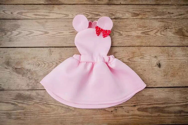 Pink Minnie Mouse suspender dress