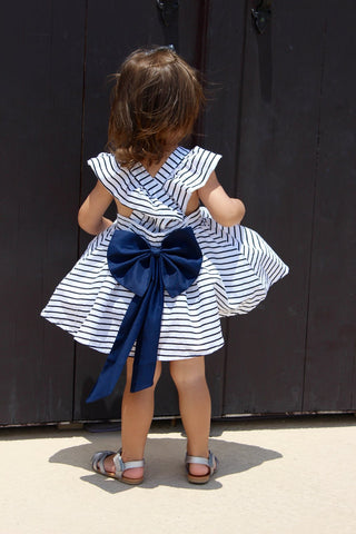 Striped Arianna Dress and bloomers set
