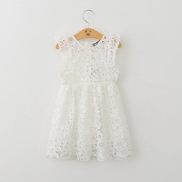 White Crochet Sofia Dress
