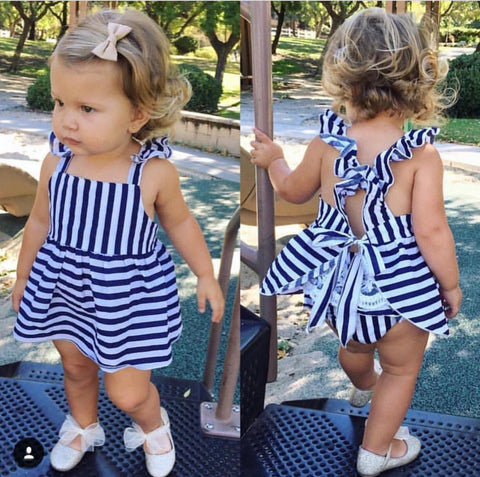 Navy Striped Sarah dress