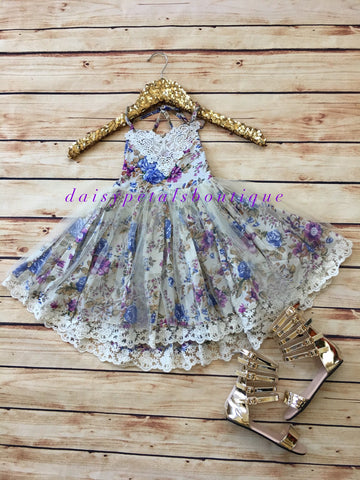 Susanne/purple  floral dress