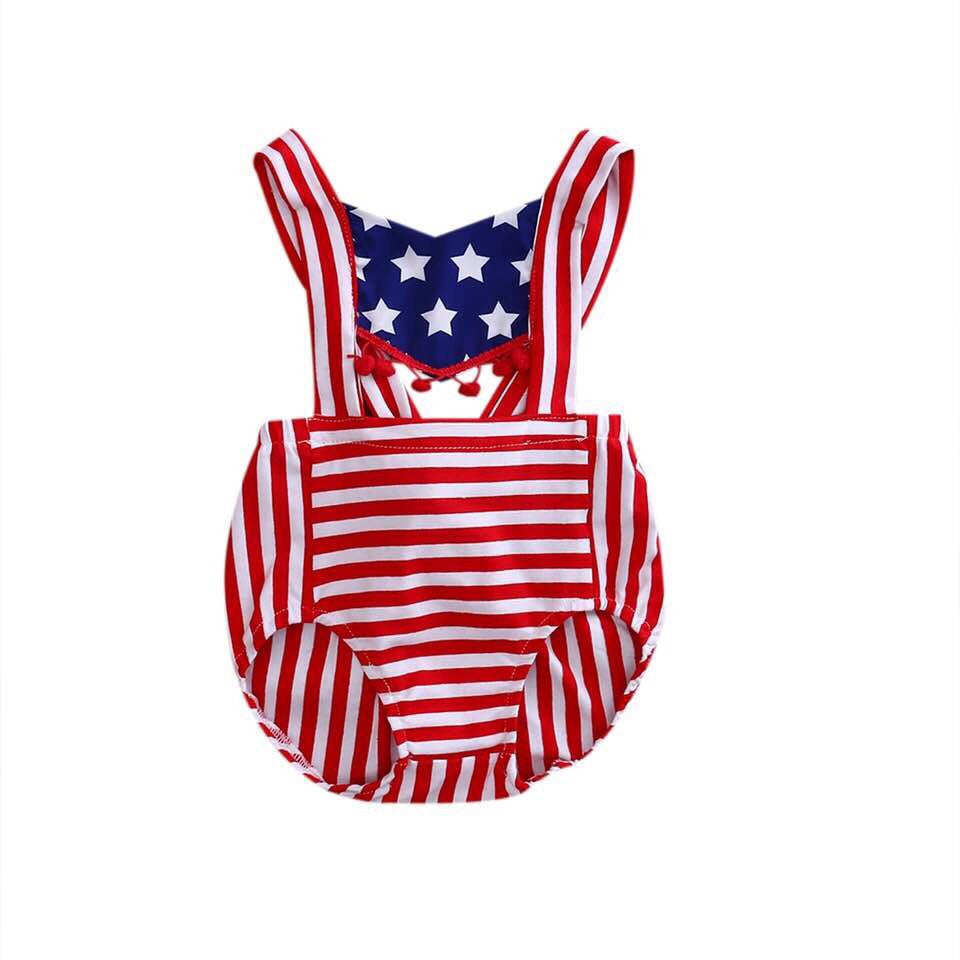 Patriotic cotton romper