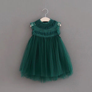 Romantic tulle dress in green