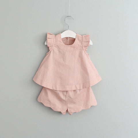 Cotton Ellie Set in peachy/pink