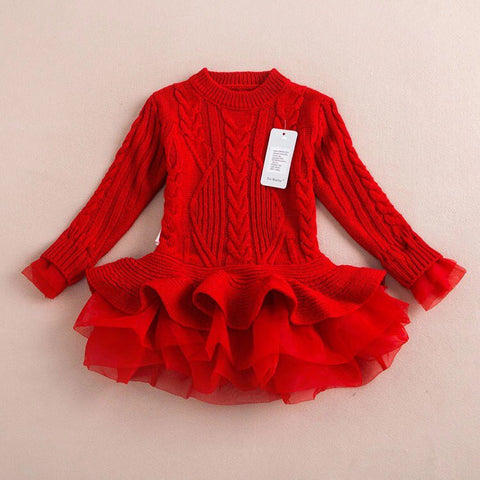 Red tutu sweater/dress