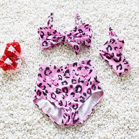 Pink 3 piece swimsuit set