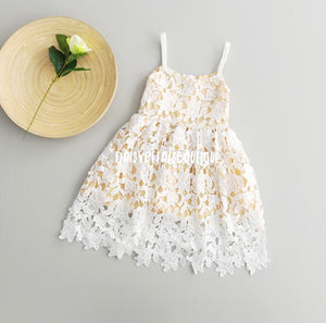 Crochet Abby dress in white