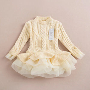 Ivory tutu sweater/dress
