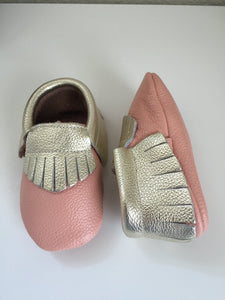Peach/Gold baby Moccs