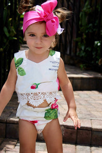 Floral Crop top and bloomers set