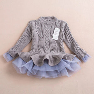 Grey tutu sweater/dress