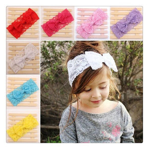 Set of 7 lace headbands