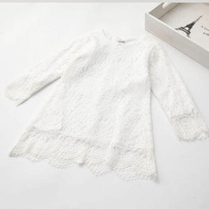 White Emily lace dress