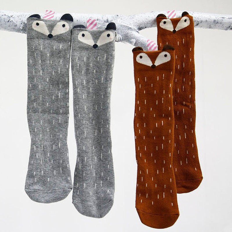 Adorable fox socks