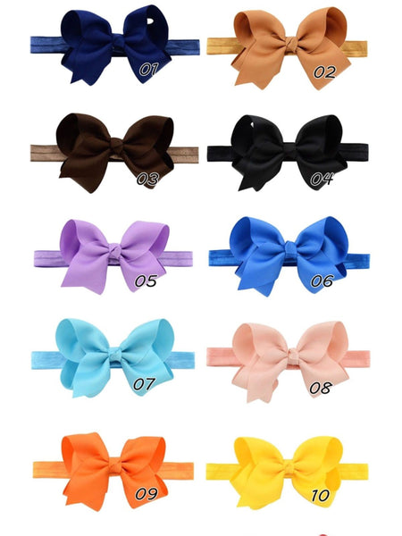 "Set of 20 headbands 4"" bow"