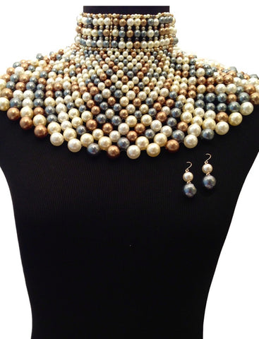 WORLD OF PEARLS BIB CHOKER