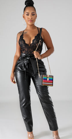 Boxy Leatherette Pants