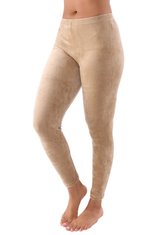 CUDDLE WITH ME VELOUR LEGGINGS