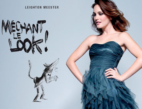 Actress Leighton Meester Model Campaign for Enchantress Dress by Naf Naf Paris