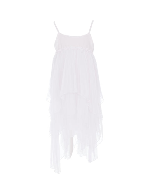 Tiered Pleated Dress