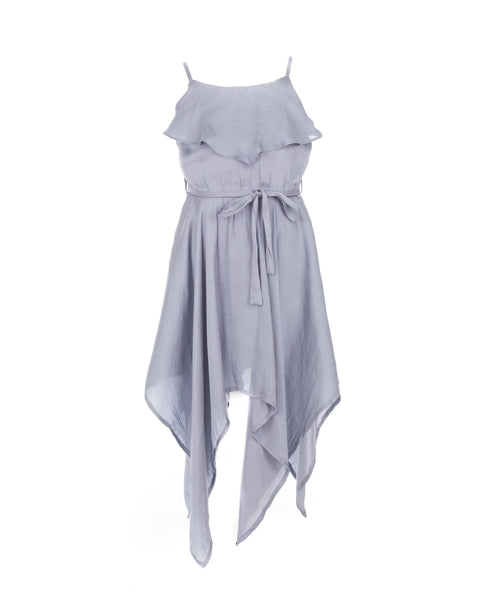 Silver Satin Hanky Dress