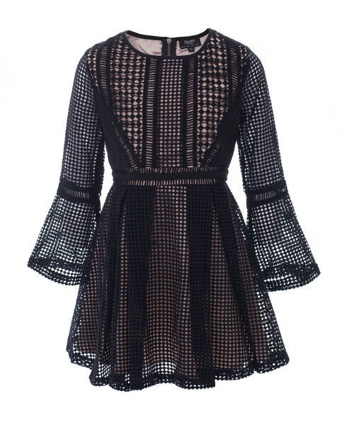 Panelled Grid Dress