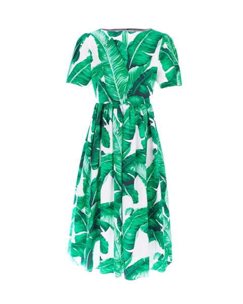 Banana Leaf Print Mini Me Dress