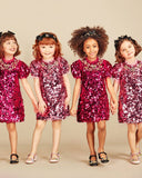 Pink Sequin Mini-me Dress