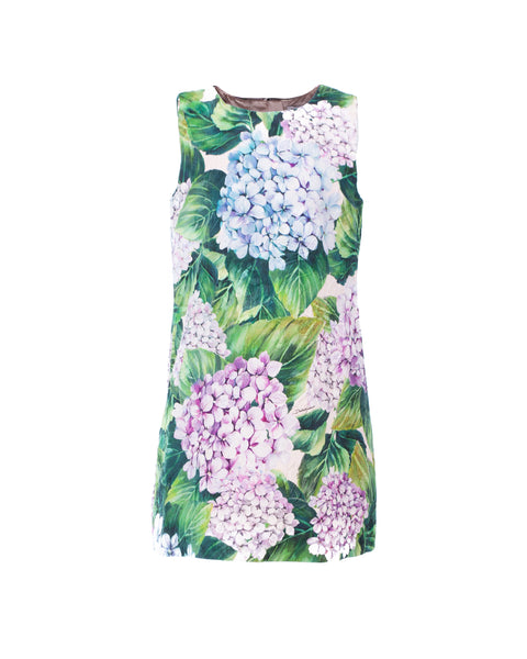Hydrangea Print Shift Dress