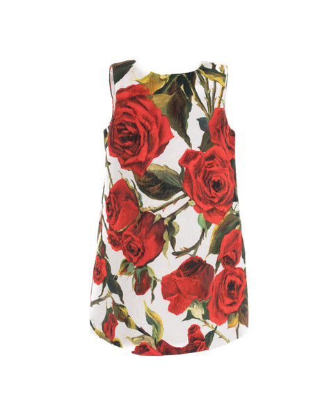 Red Rose Printed Dress
