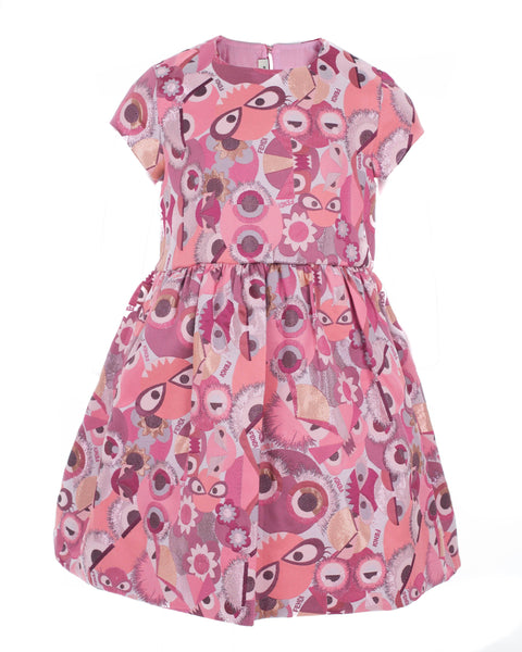 Pink Jacquard Monster Dress