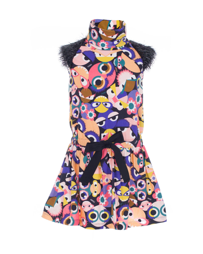Monster Jersey Dress With Confetti Sleeves
