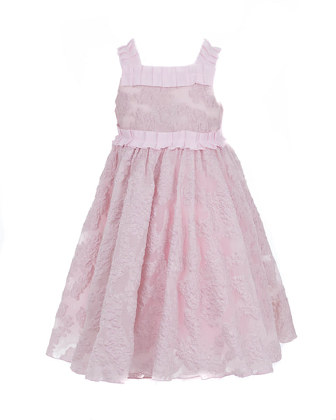 Embroidered Pink Tulle Dress