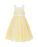 Embroidered Yellow Tulle Dress