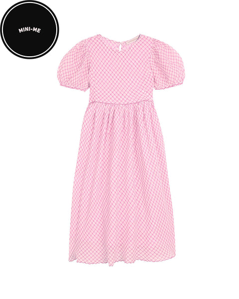 Pink Holly Checked Dress