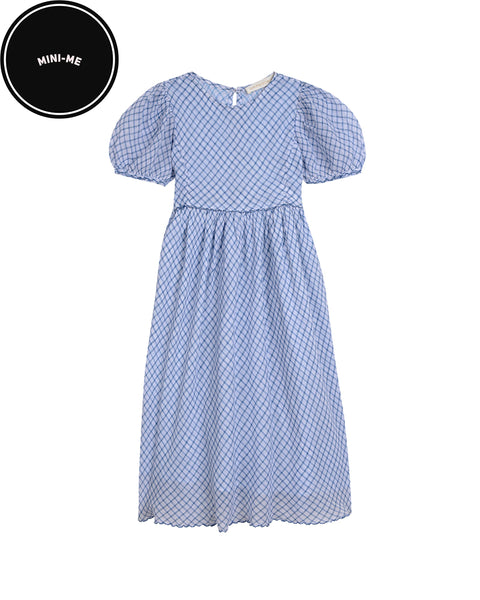 Blue Holly Checked Dress