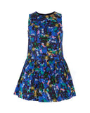 Little Girl Jewel Print Dropwaist Party Dress