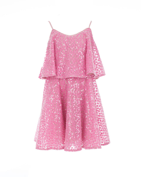 Pink Sequin Popover Dress