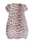 Beige and Dark Brown Leopard Print Dress (4 years)