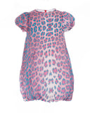 Pink and Turquoise Leopard Print Dress (4 years)