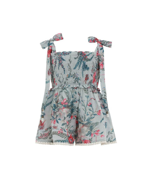 Floral Shirred Romper