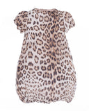 Beige and Dark Brown Leopard Print Dress (2 years)
