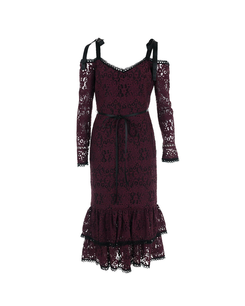 Maura Off-shoulder Lace Dress