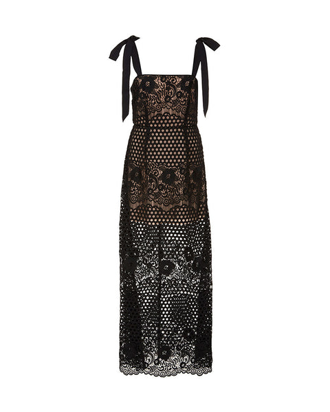 Secret Lover Lace Midi Dress