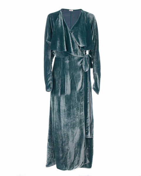 Ali Long Velvet Robe Dress
